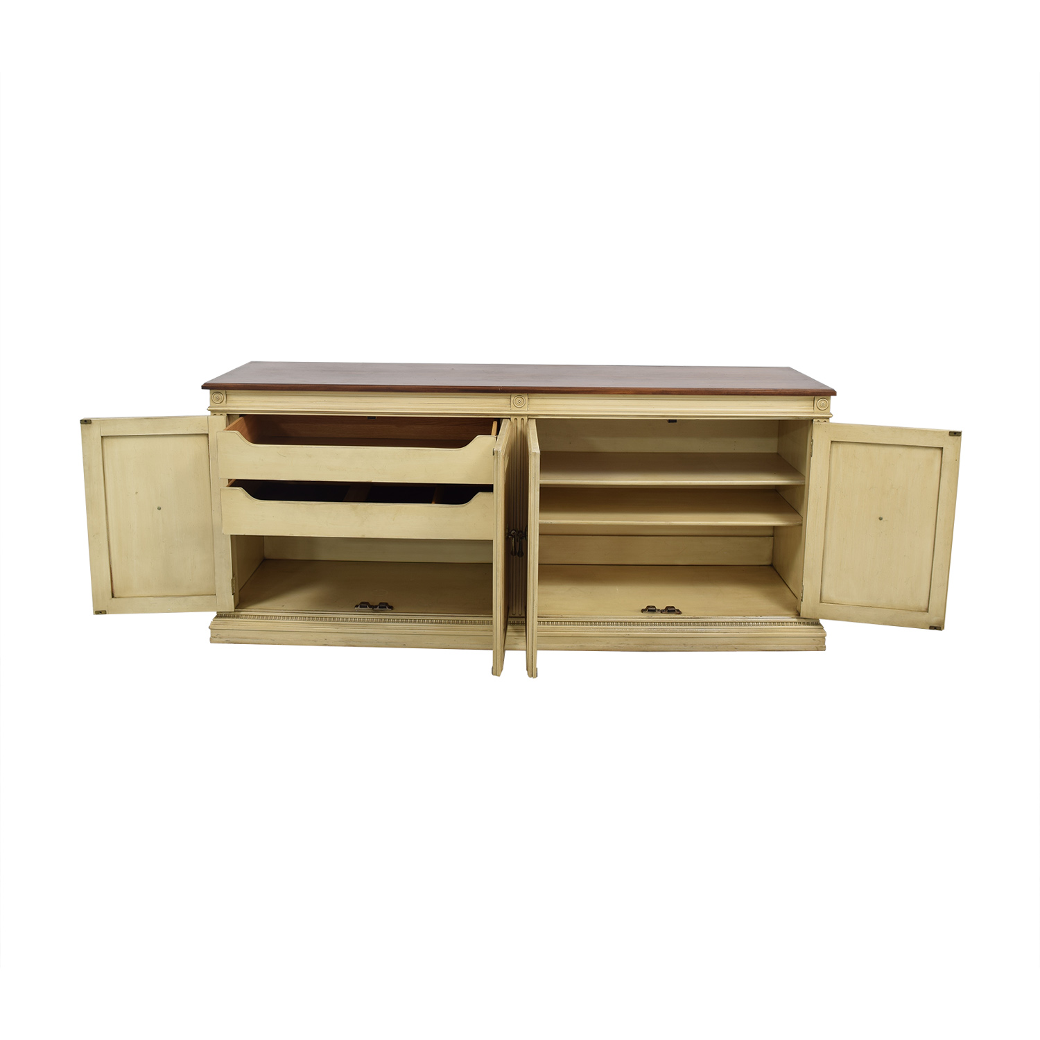 Davis Cabinet Company Davis Cabinet Company Sideboard off white and brown