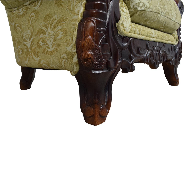 buy Ethan Allen Ornate Arm Chair Ethan Allen Chairs