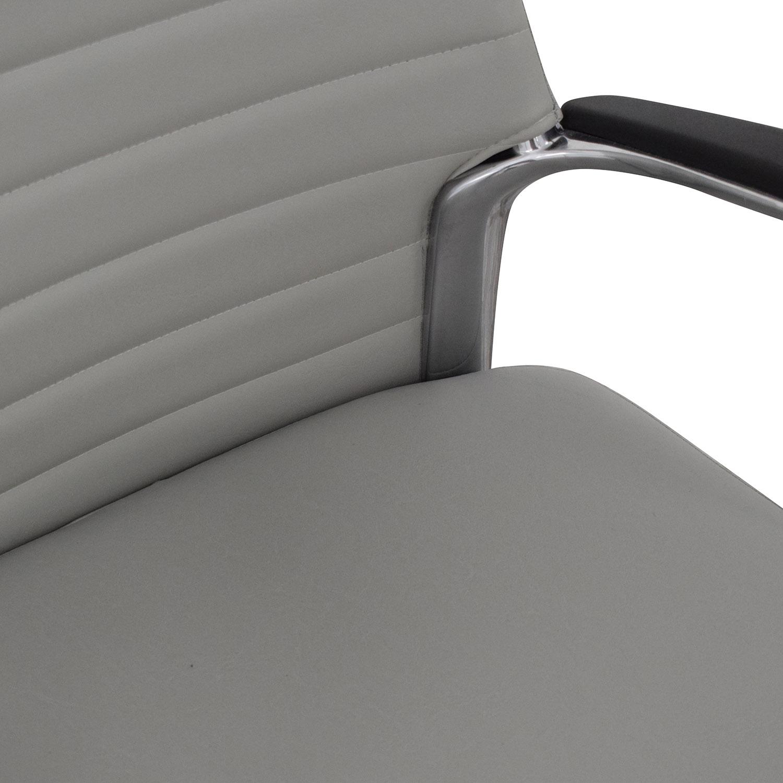 Global Global Accord Upholstered Medium Back Tilter Chair gray
