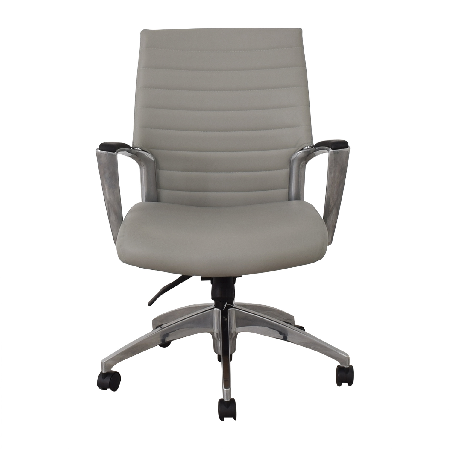 Global Global Accord Upholstered Medium Back Tilter Chair gray