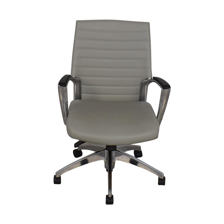 Global Global Accord Upholstered Medium Back Tilter Chair grey & brown