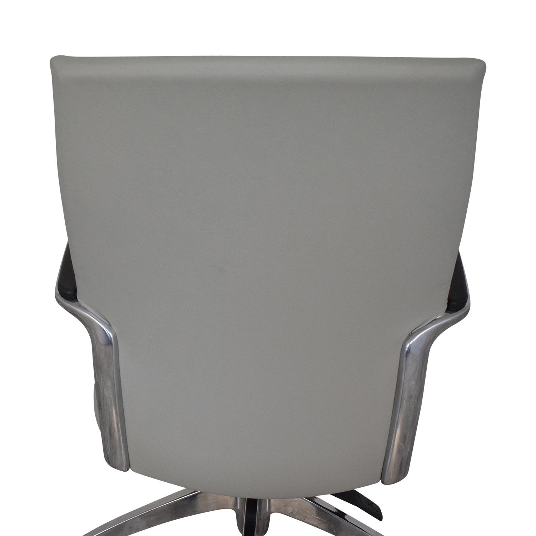 Global Global Accord Upholstered Medium Back Tilter Chair grey &  silver
