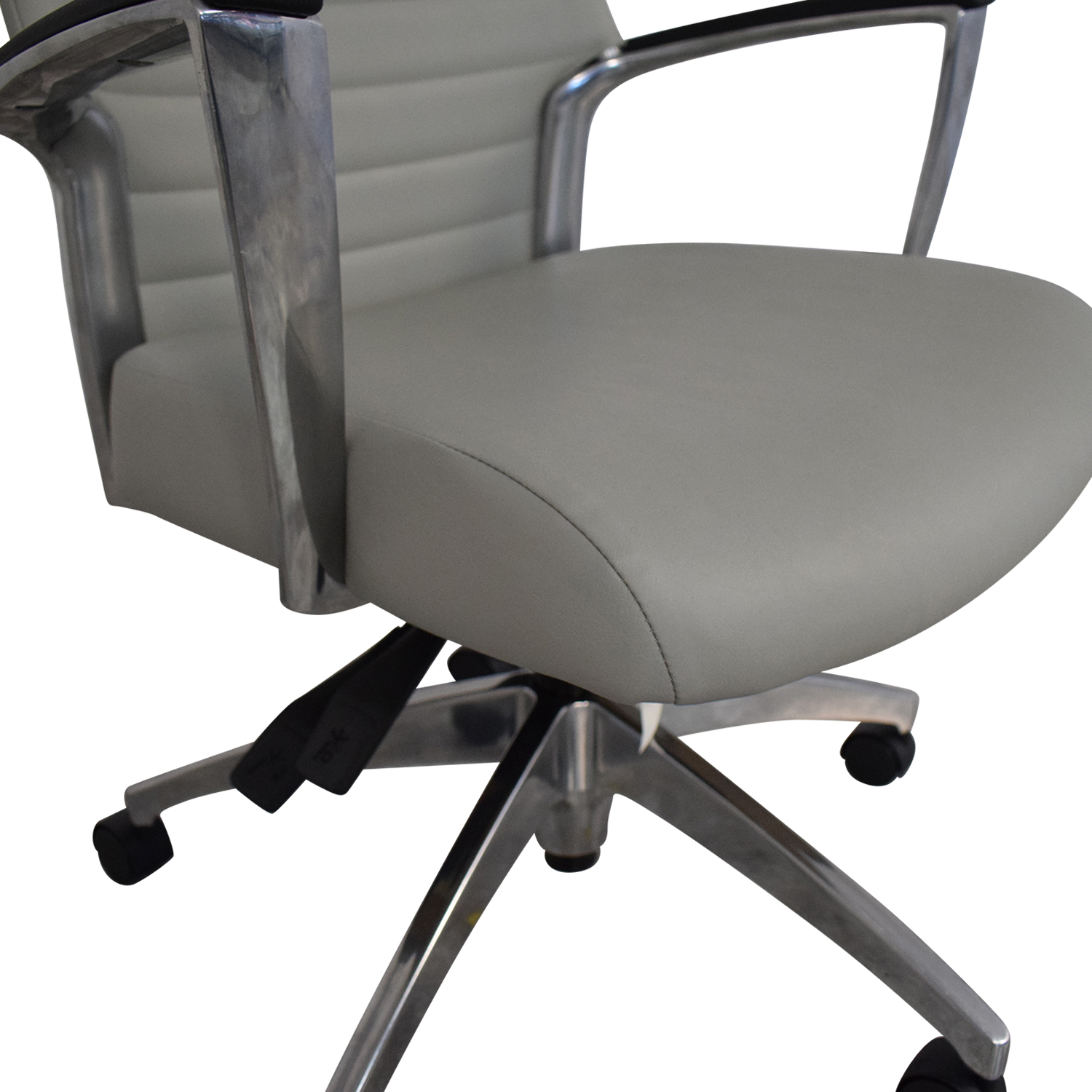 Global Global Accord Upholstered Medium Back Tilter Chair grey &  silver