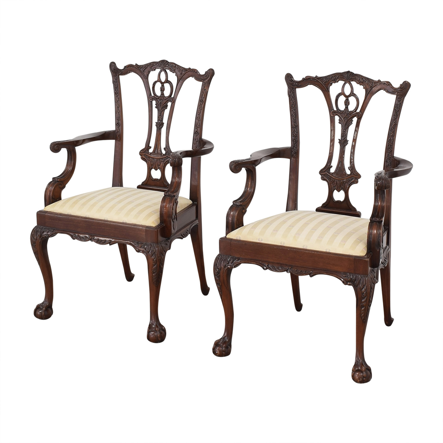 Macy's Hickory Furniture Upholstered Dining Chairs for sale