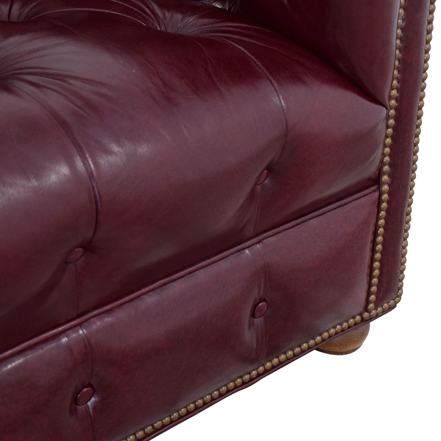 Ethan Allen Vintage Tufted Sofa with Nailheads sale