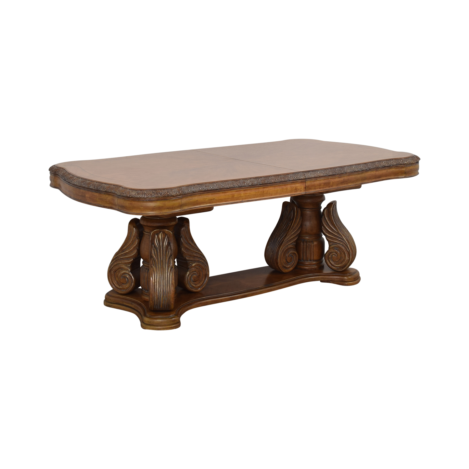 buy Michael Amini Extendable Dining Table with Two Leaves Michael Amini