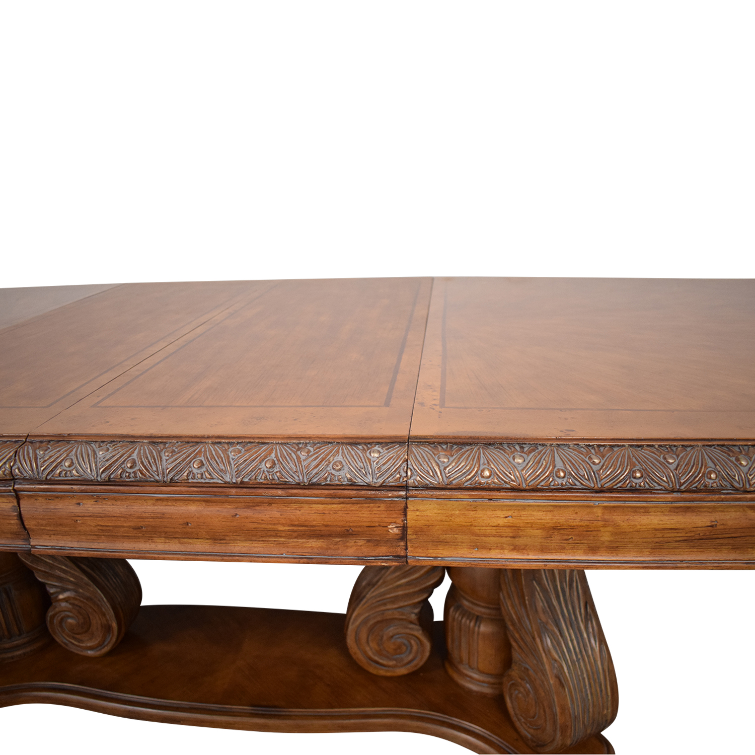 Michael Amini Extendable Dining Table with Two Leaves sale