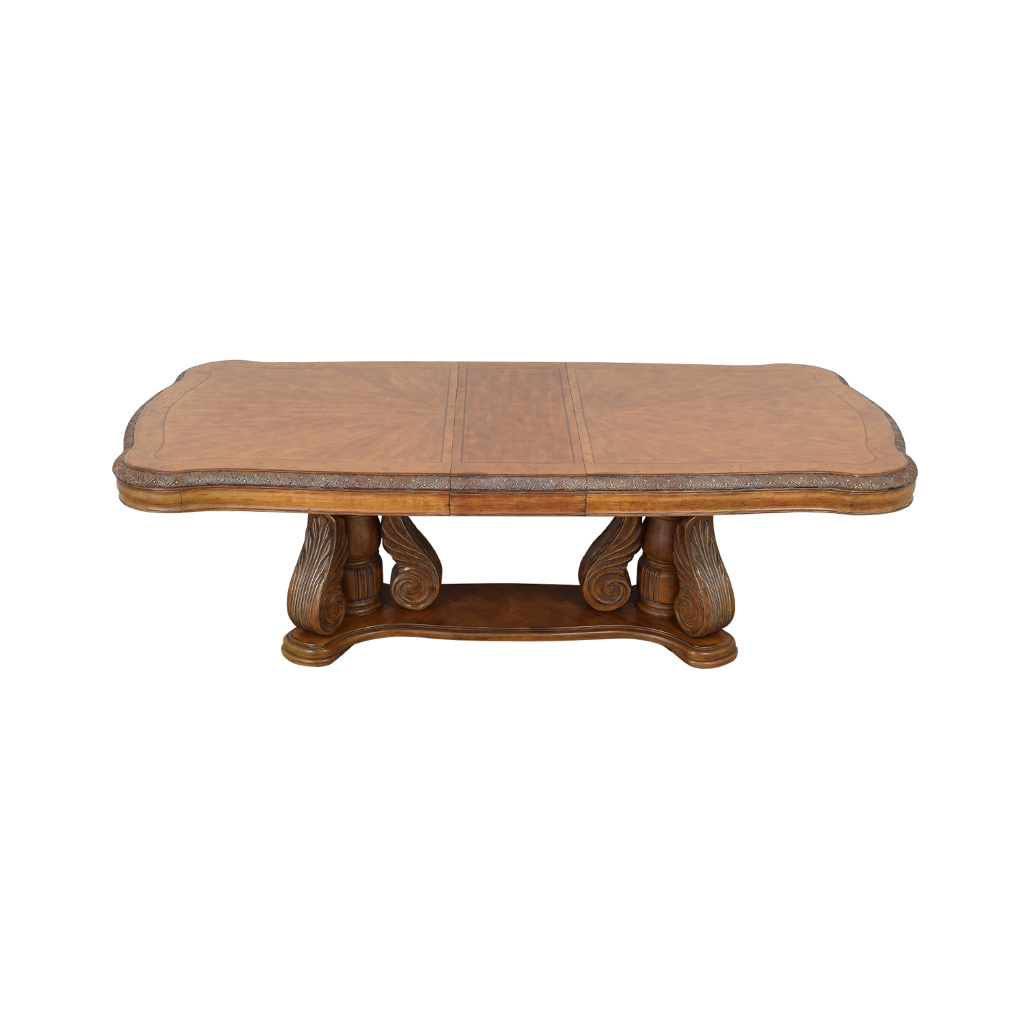 Michael Amini Extendable Dining Table with Two Leaves / Tables