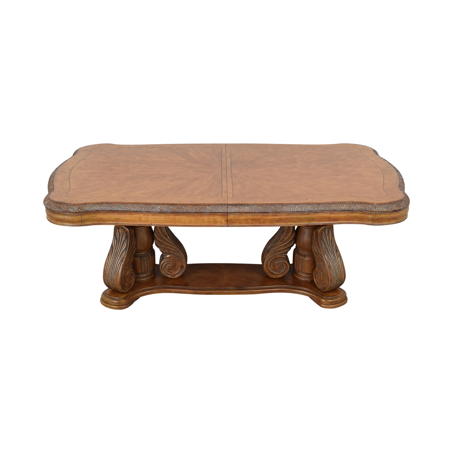 shop Michael Amini Michael Amini Extendable Dining Table with Two Leaves online
