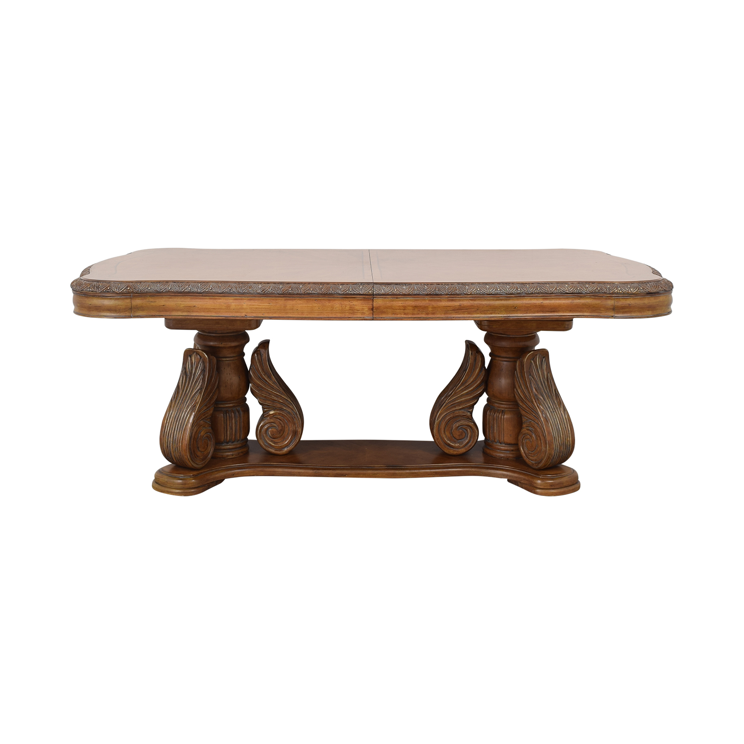 buy Michael Amini Michael Amini Extendable Dining Table with Two Leaves online
