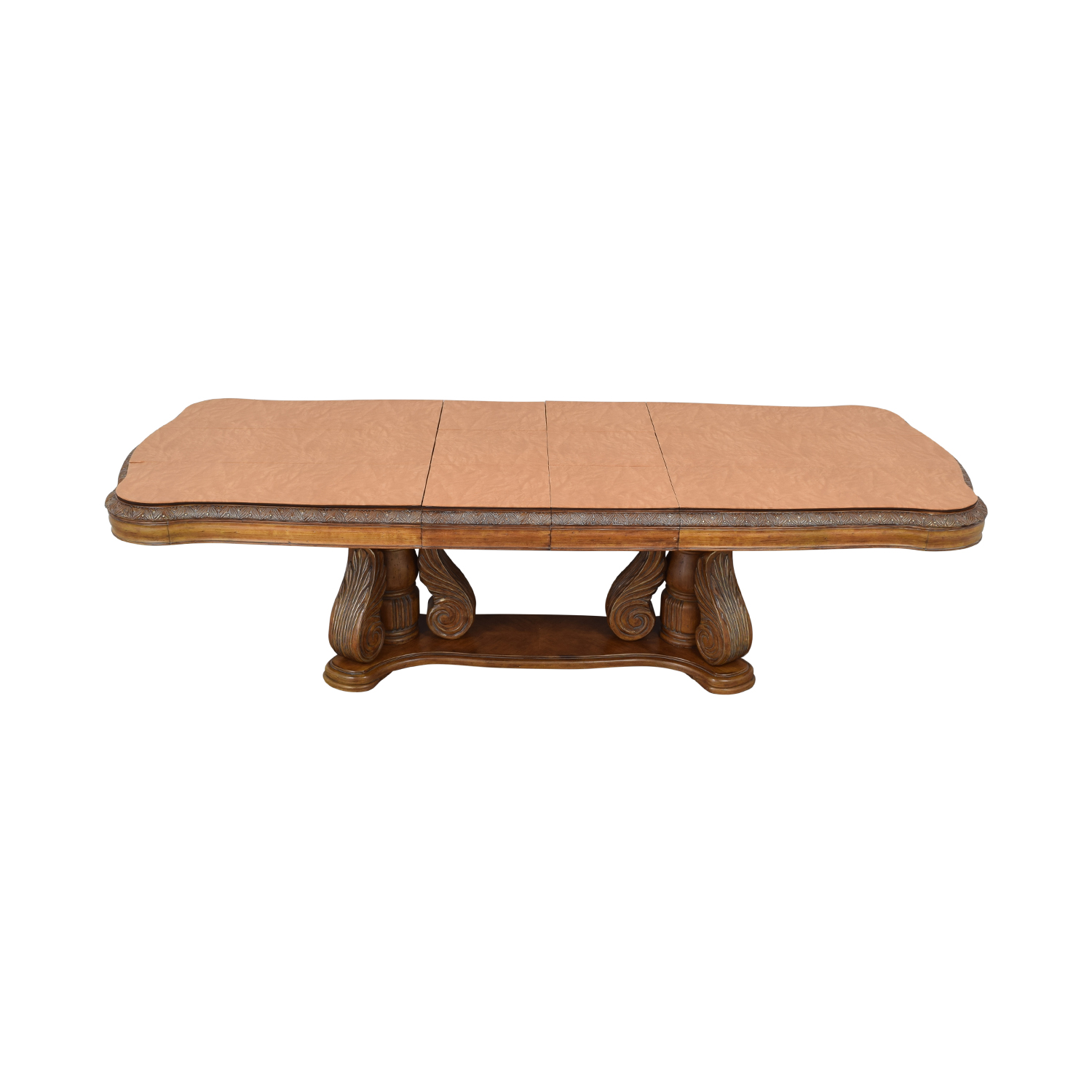 Michael Amini Michael Amini Extendable Dining Table with Two Leaves brown