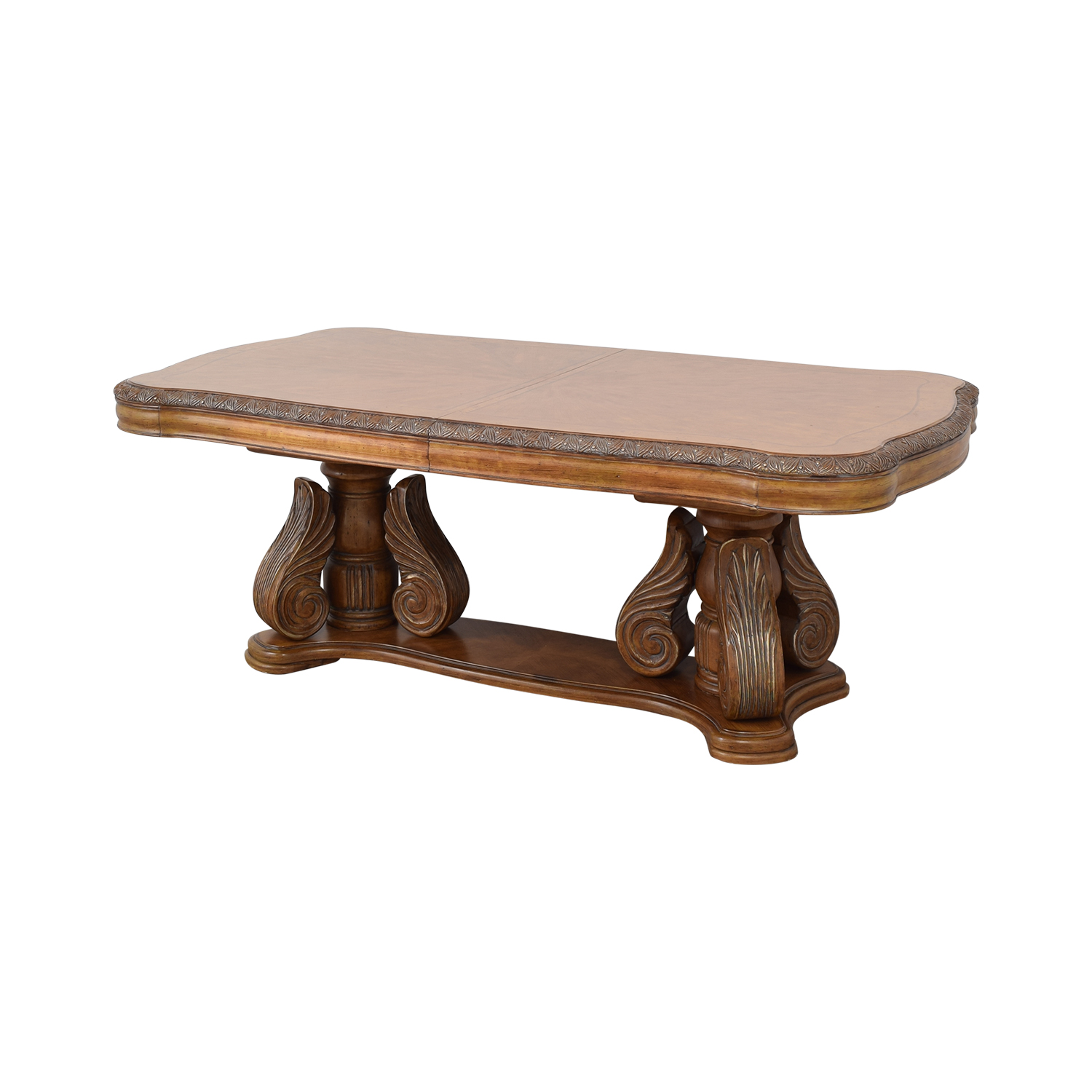 Michael Amini Michael Amini Extendable Dining Table with Two Leaves used