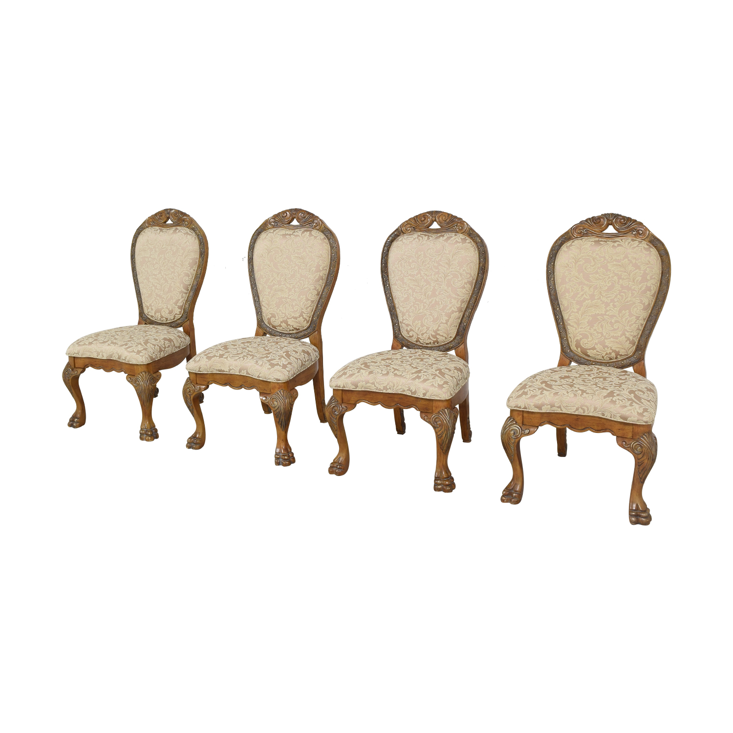 Michael Amini Michael Amini Upholstered Dining Chairs tan and brown