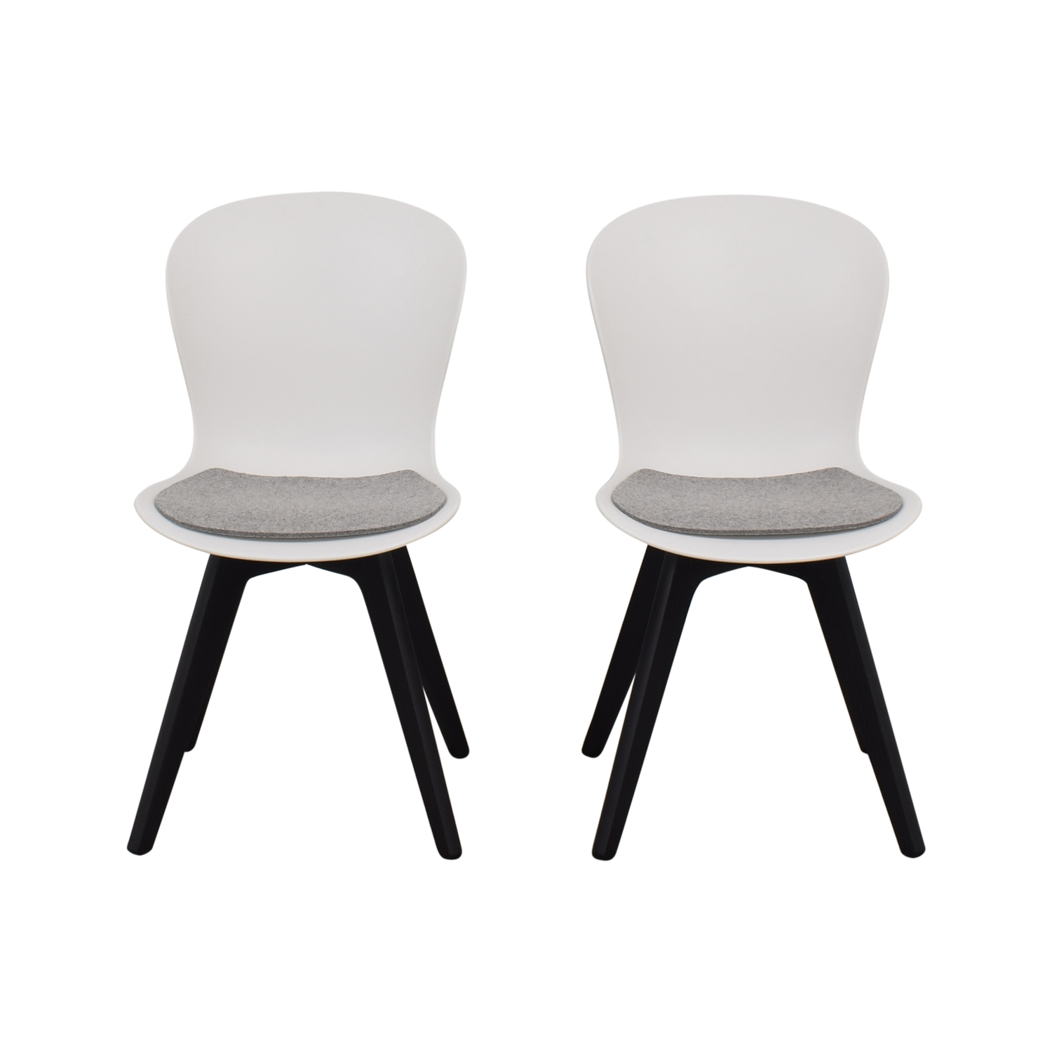 BoConcept BoConcept Adelaide Chairs with Morgan Seat Cushions black & white