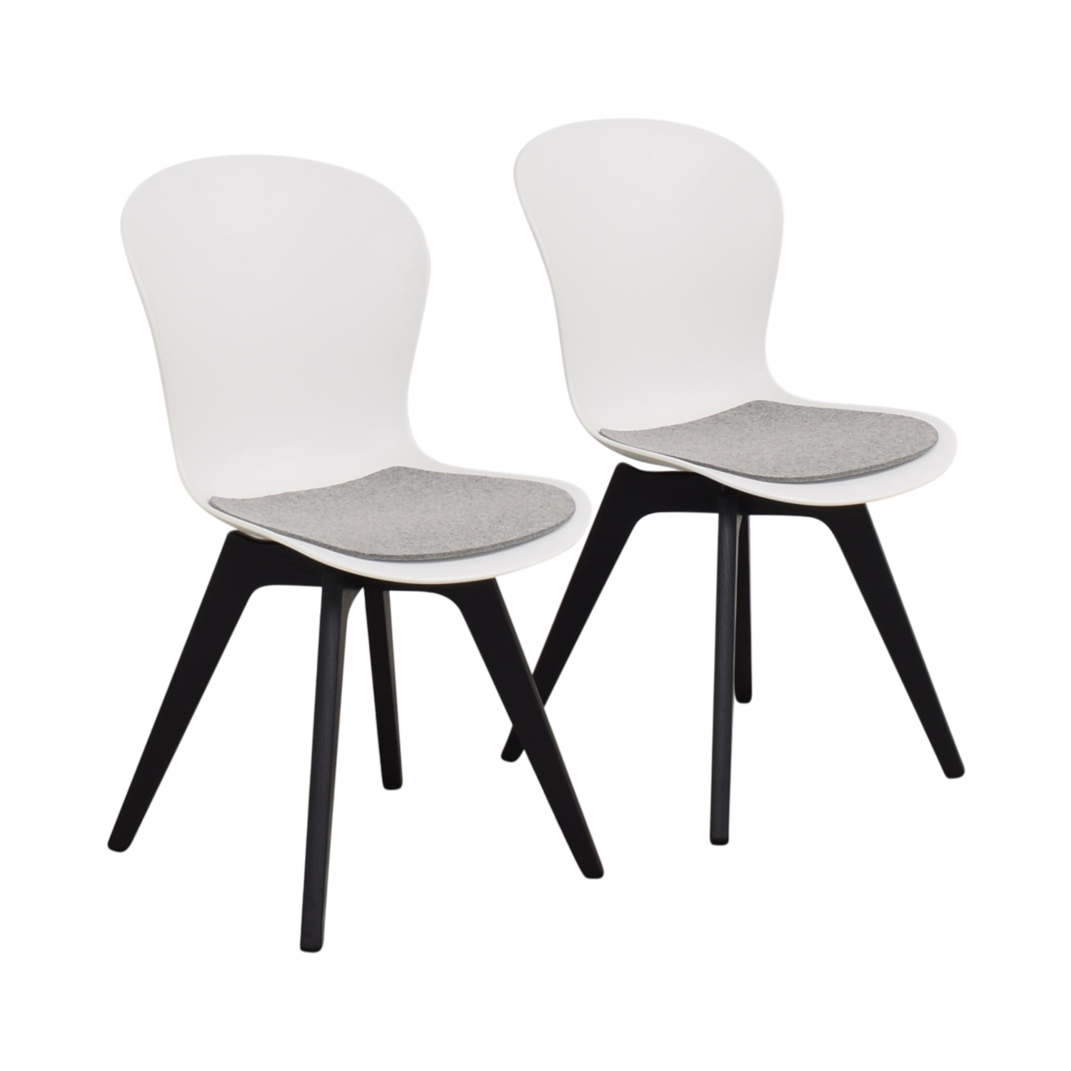 BoConcept BoConcept Adelaide Chairs with Morgan Seat Cushions ct