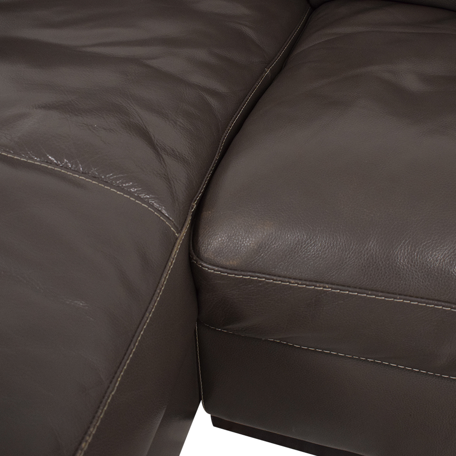 Raymour & Flanigan Raymour & Flanigan Leather Sectional Sofa discount