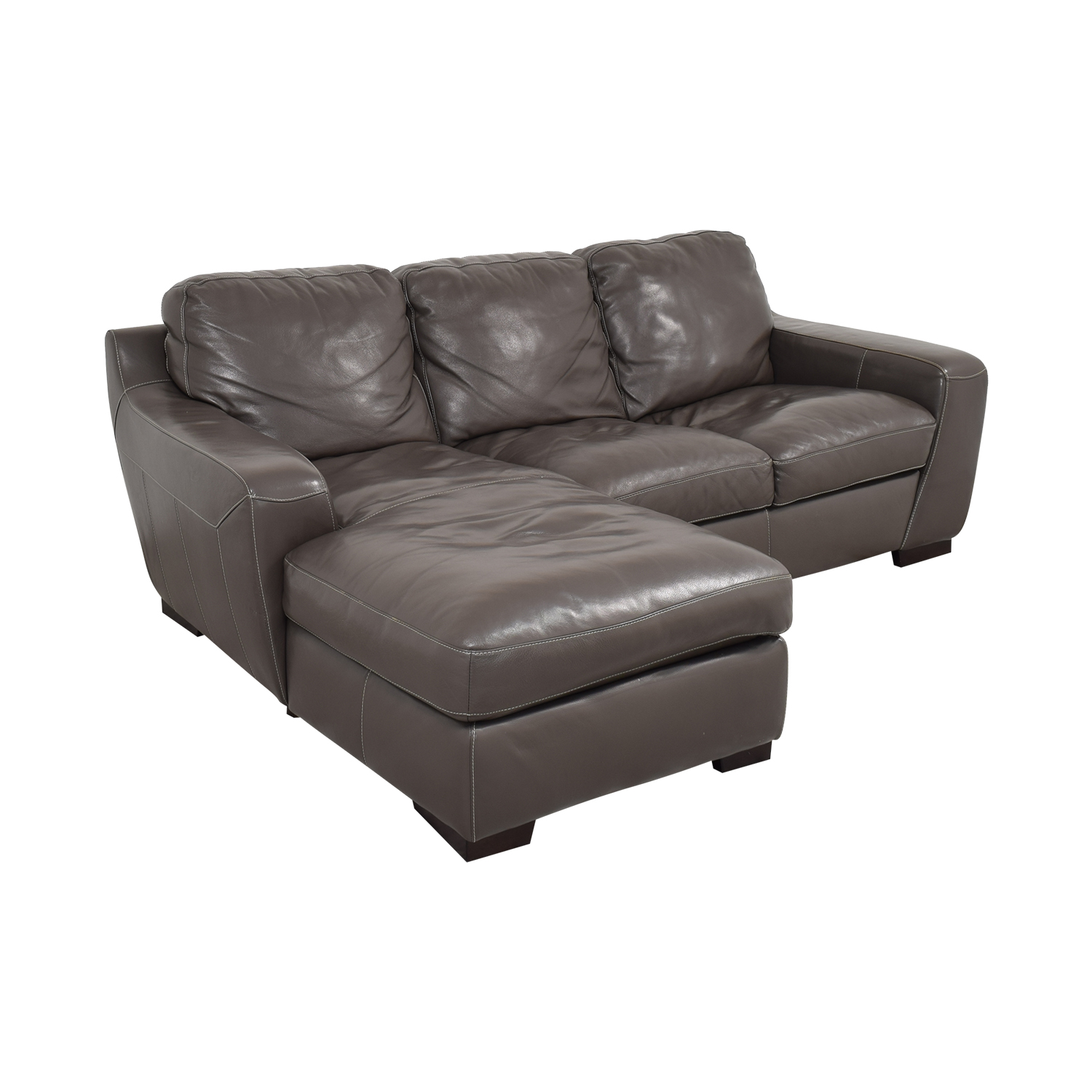 Raymour & Flanigan Leather Sectional Sofa / Sectionals