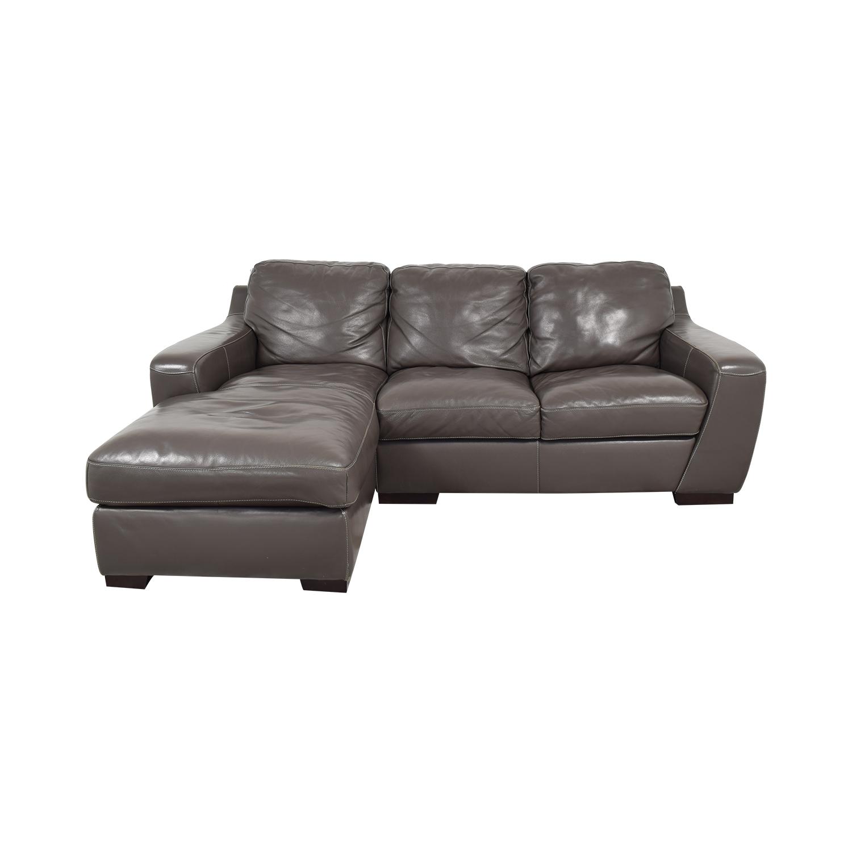 Raymour & Flanigan Raymour & Flanigan Leather Sectional Sofa nj