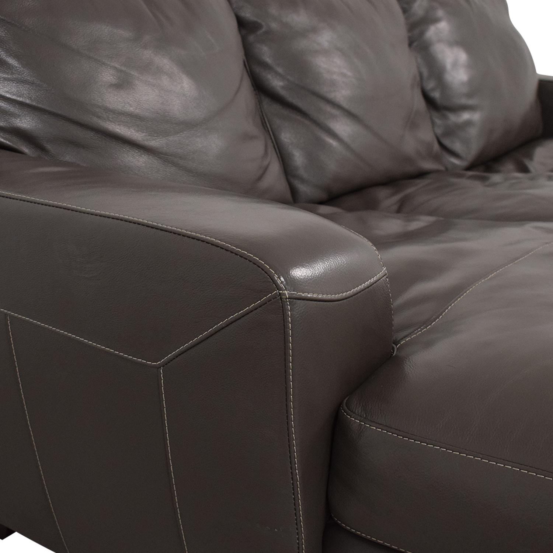 Raymour & Flanigan Leather Sectional Sofa Raymour & Flanigan