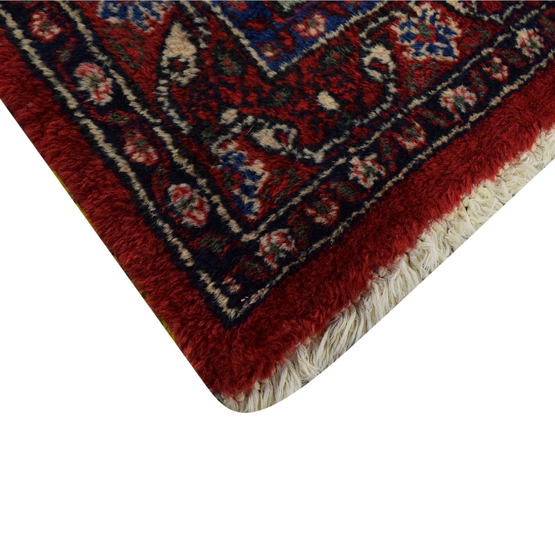 Vintage Bibikibad Persian Rug dimensions