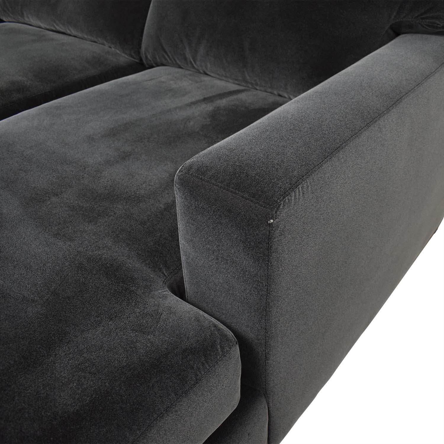 shop Crate & Barrel Axis Chaise Sectional Sofa Crate & Barrel Sectionals