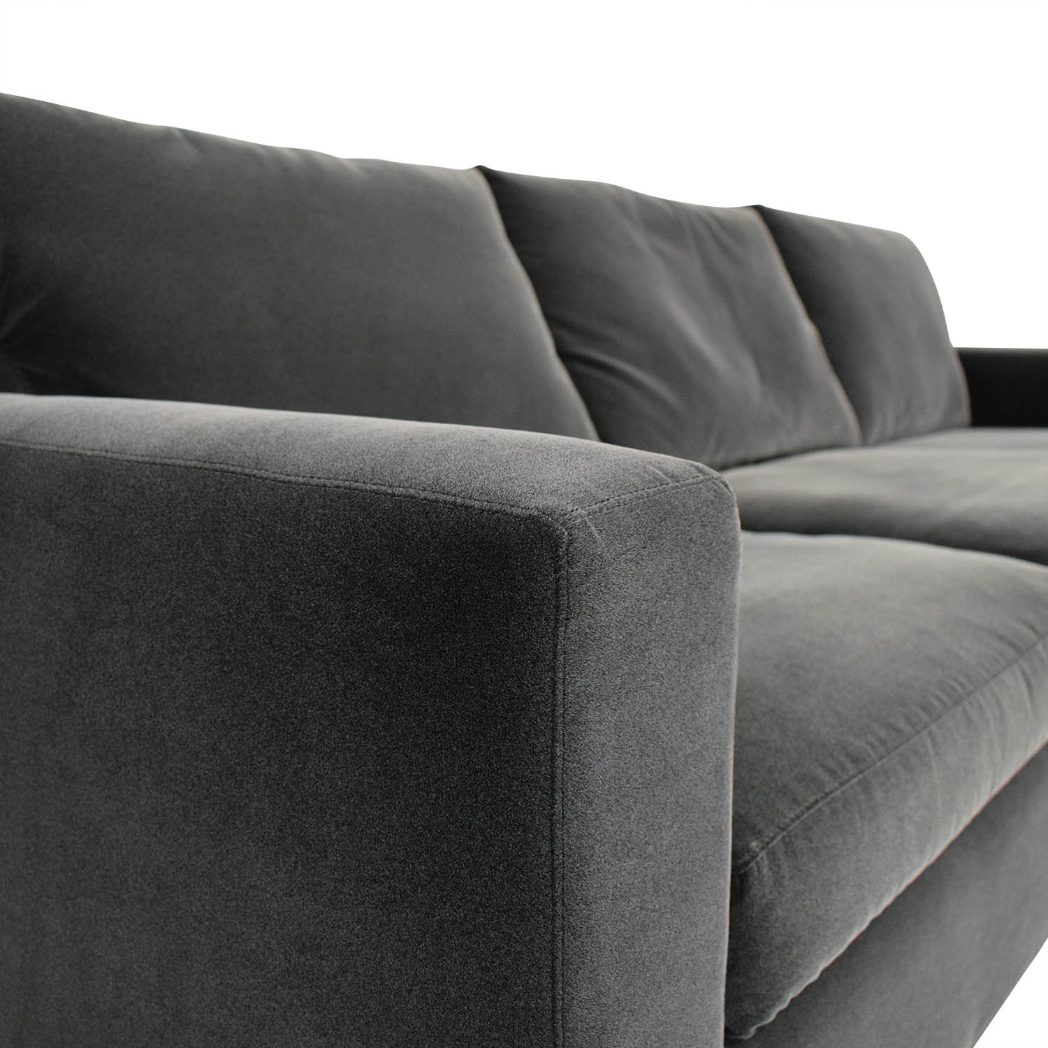 Crate & Barrel Crate & Barrel Axis Chaise Sectional Sofa Sofas