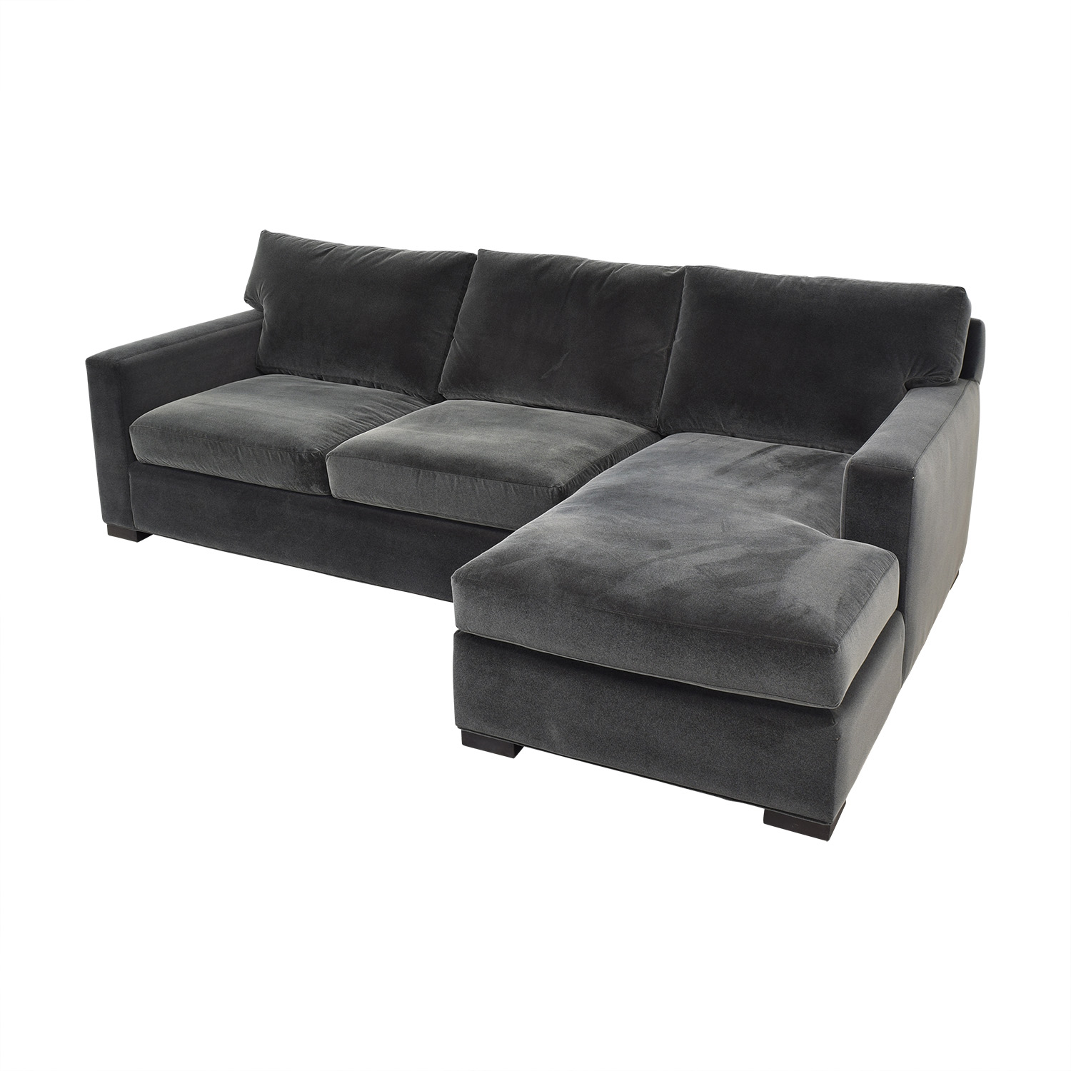 Crate & Barrel Crate & Barrel Axis Chaise Sectional Sofa used
