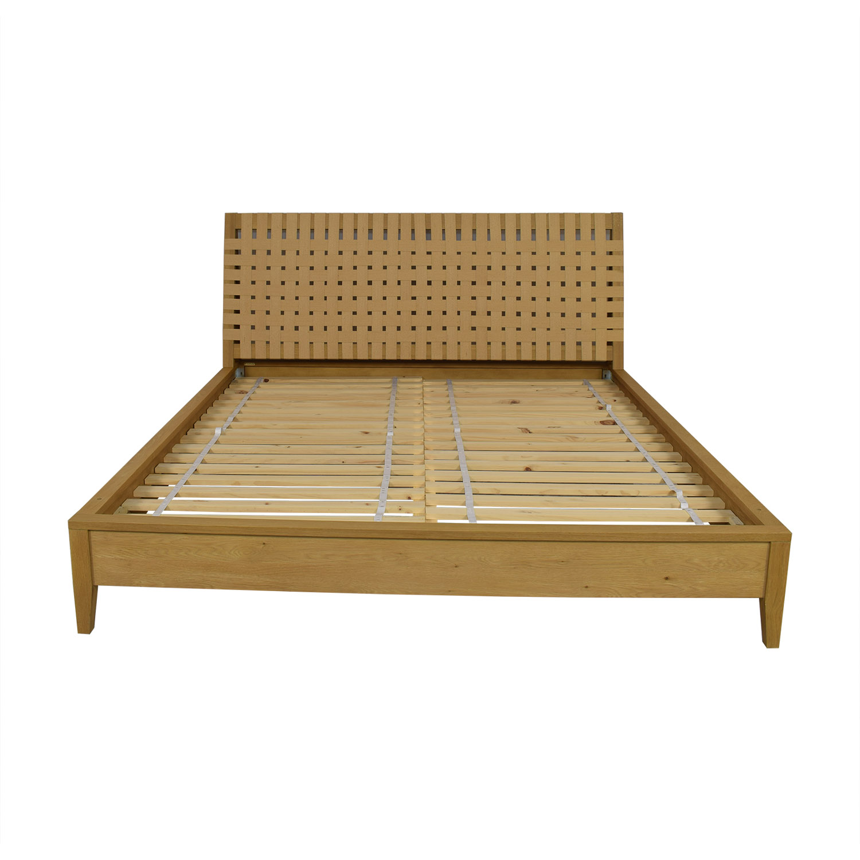 Crate & Barrel Crate & Barrel Basket Weave King Bed second hand