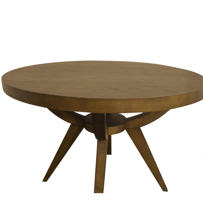 buy West Elm Arc Base Pedestal Dining Table West Elm Tables