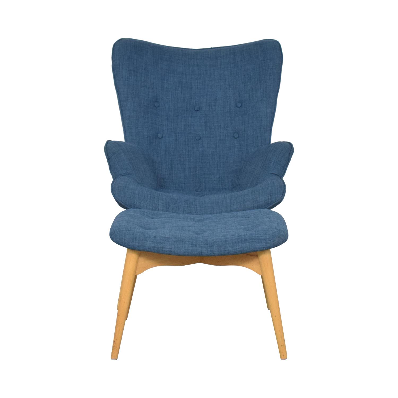 shop AllModern Canyon Vista Lounge Chair and Ottoman AllModern