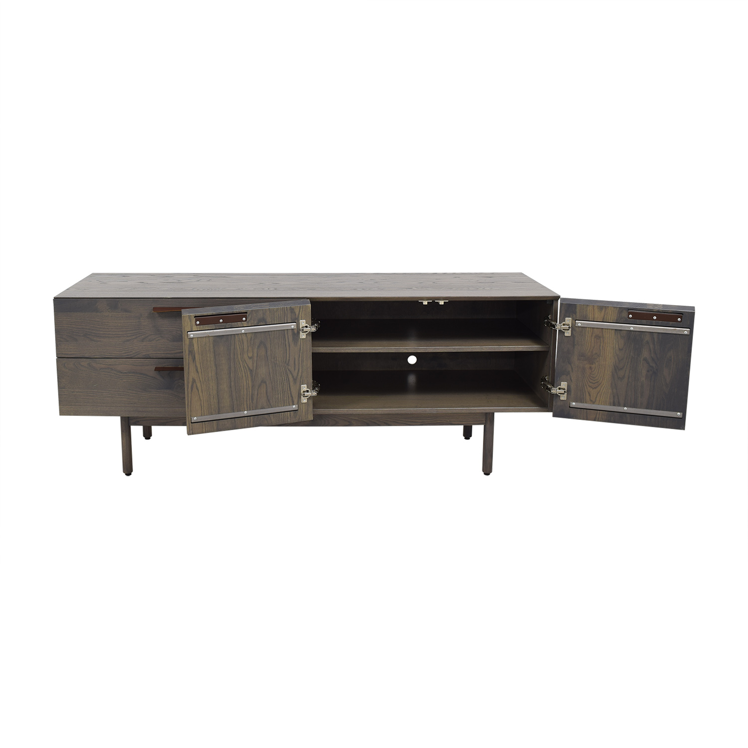 Entertainment Unit with Two Drawers and Cabinets dimensions