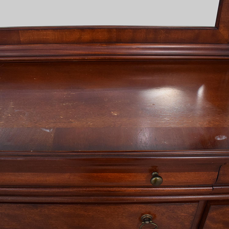Macy's Macy's Bordeaux II Ten Drawer Dresser with Mirror used