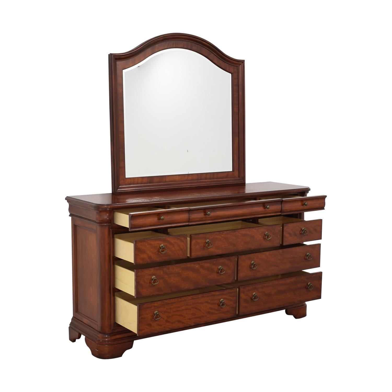 Macy's Macy's Bordeaux II Ten Drawer Dresser with Mirror pa