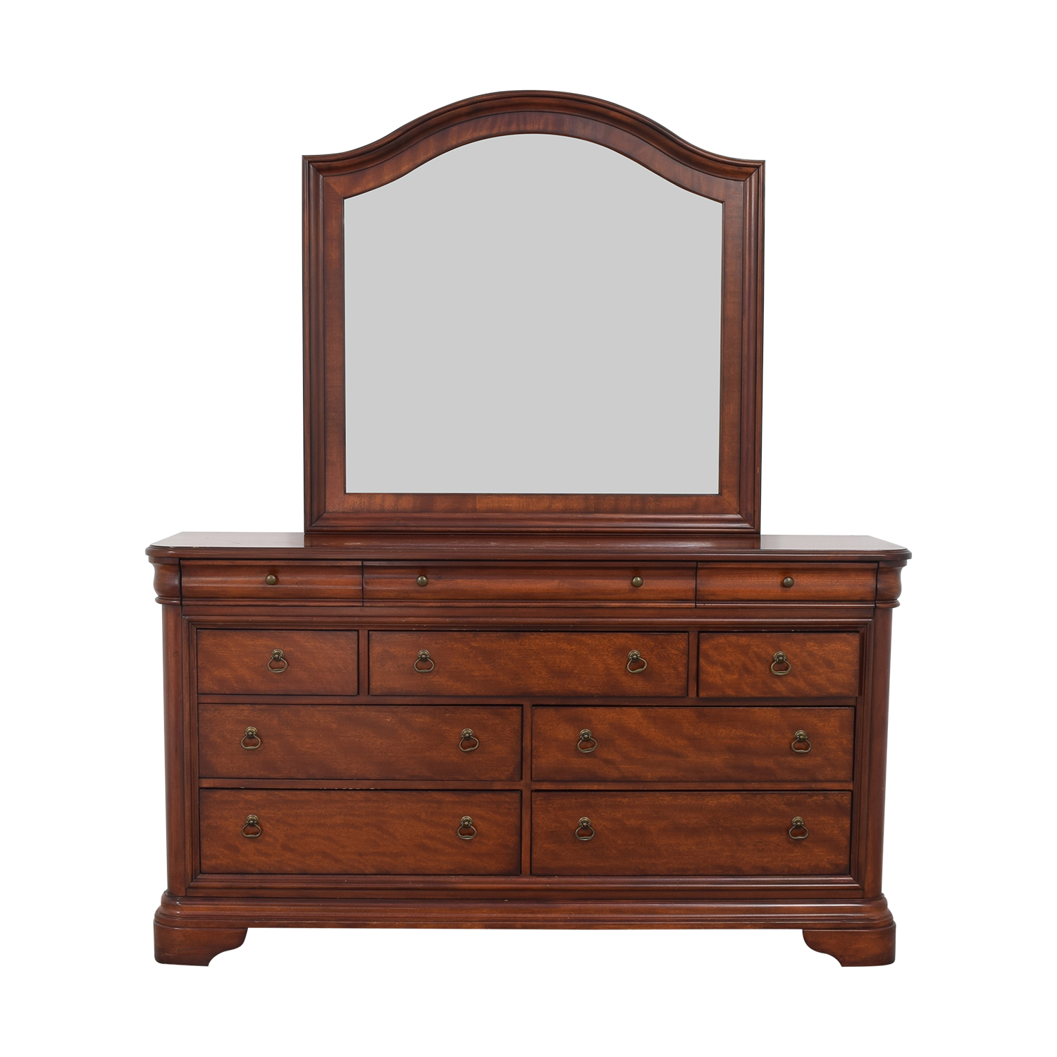 Macy's Macy's Bordeaux II Ten Drawer Dresser with Mirror used