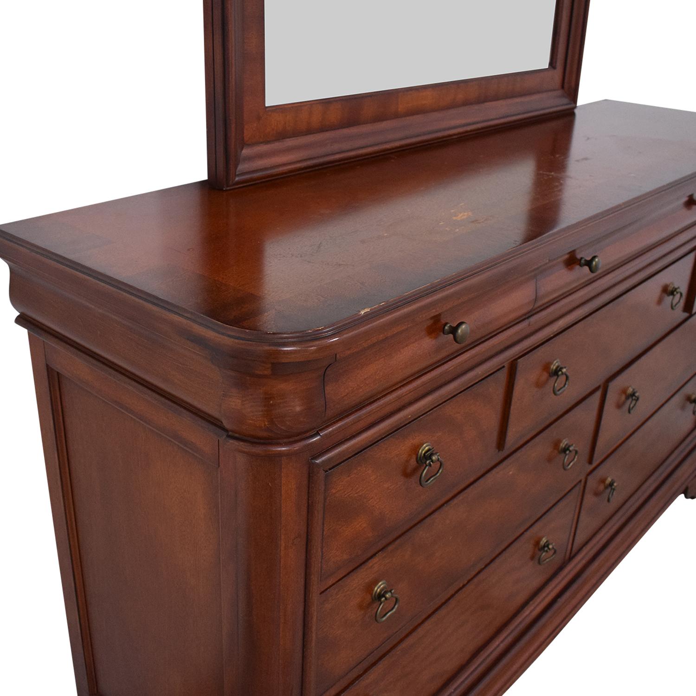 Macy's Macy's Bordeaux II Ten Drawer Dresser with Mirror on sale