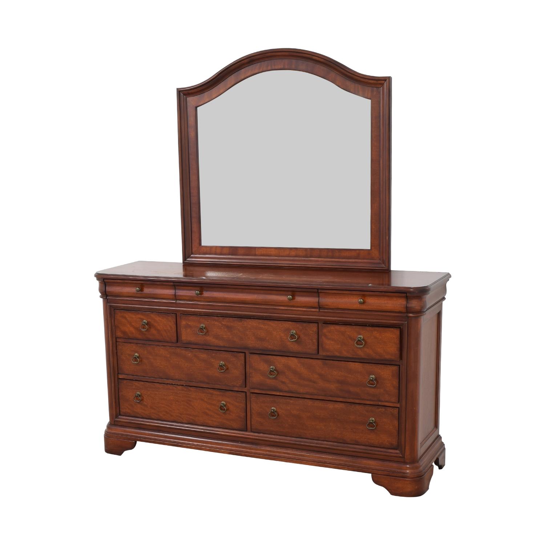 shop Macy's Macy's Bordeaux II Ten Drawer Dresser with Mirror online