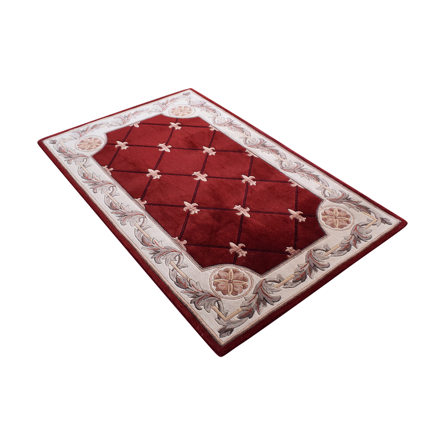 Macy's Macy's Kas Jewel Collection Classical Designed Red Area Rug