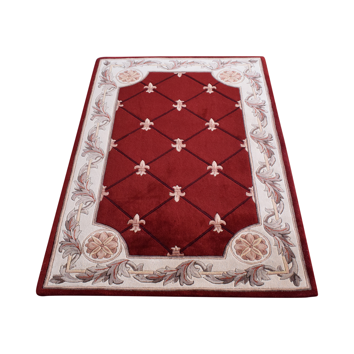 Macy's Kas Jewel Collection Classical Designed Red Area Rug / Decor