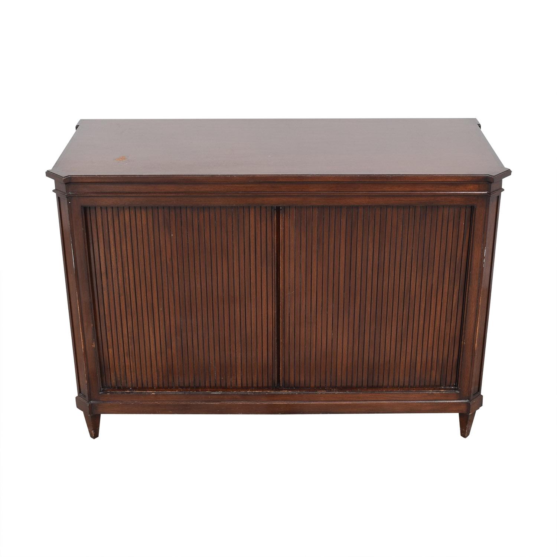 Vintage Accordion Door Credenza / Cabinets & Sideboards
