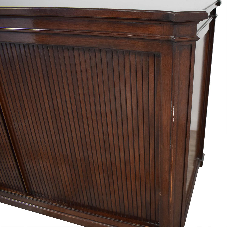 Vintage Accordion Door Credenza Storage