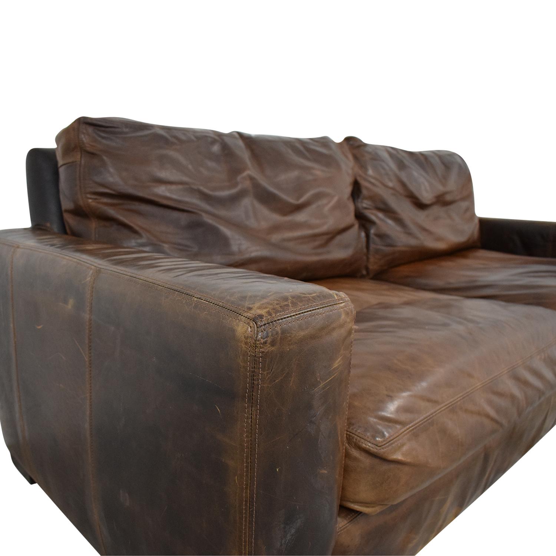 Restoration Hardware Restoration Hardware Maxwell Leather Sofa Classic Sofas