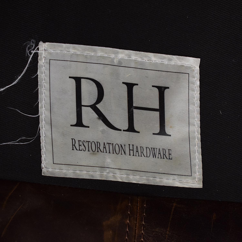 Restoration Hardware Restoration Hardware Maxwell Leather Sofa discount