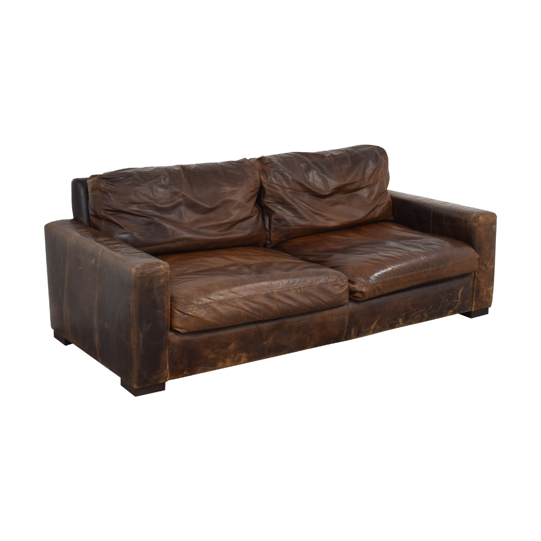 shop Restoration Hardware Maxwell Leather Sofa Restoration Hardware Classic Sofas