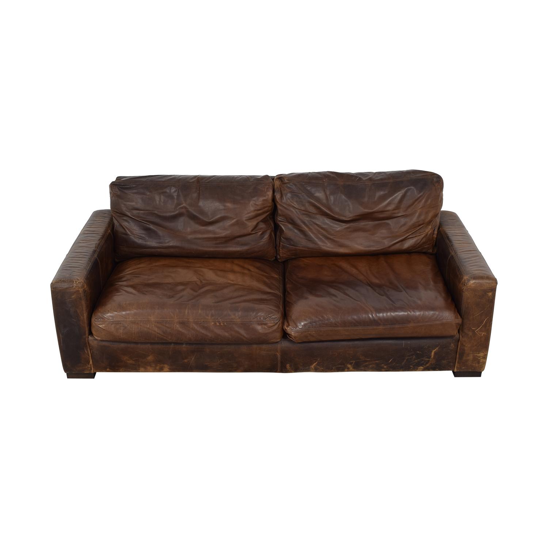 Restoration Hardware Maxwell Leather Sofa / Sofas