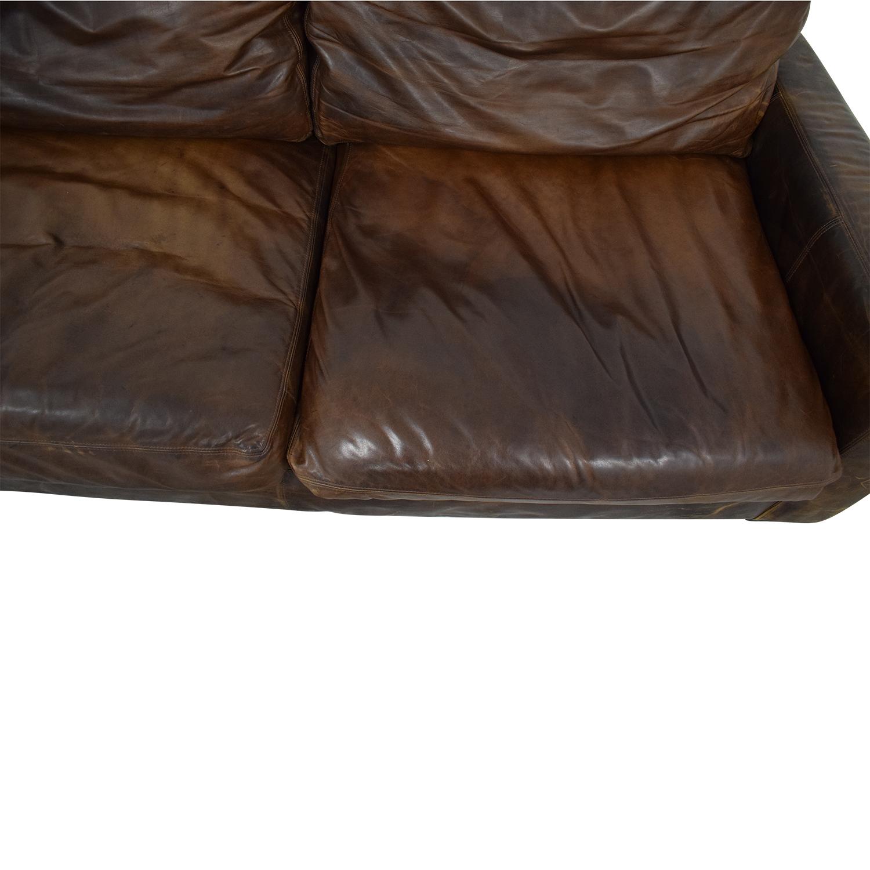 buy Restoration Hardware Maxwell Leather Sofa Restoration Hardware Classic Sofas