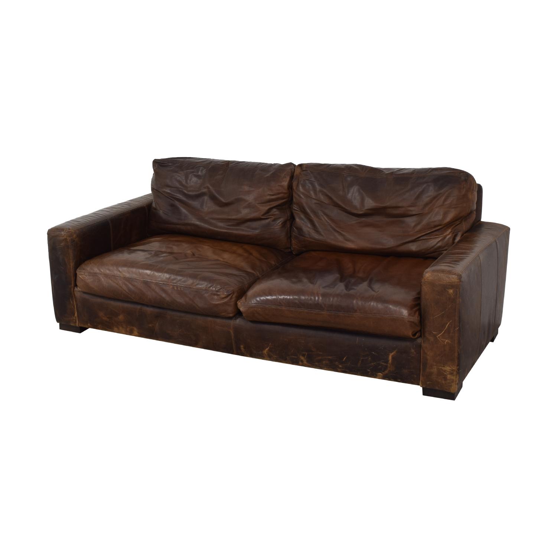 Restoration Hardware Maxwell Leather Sofa Restoration Hardware