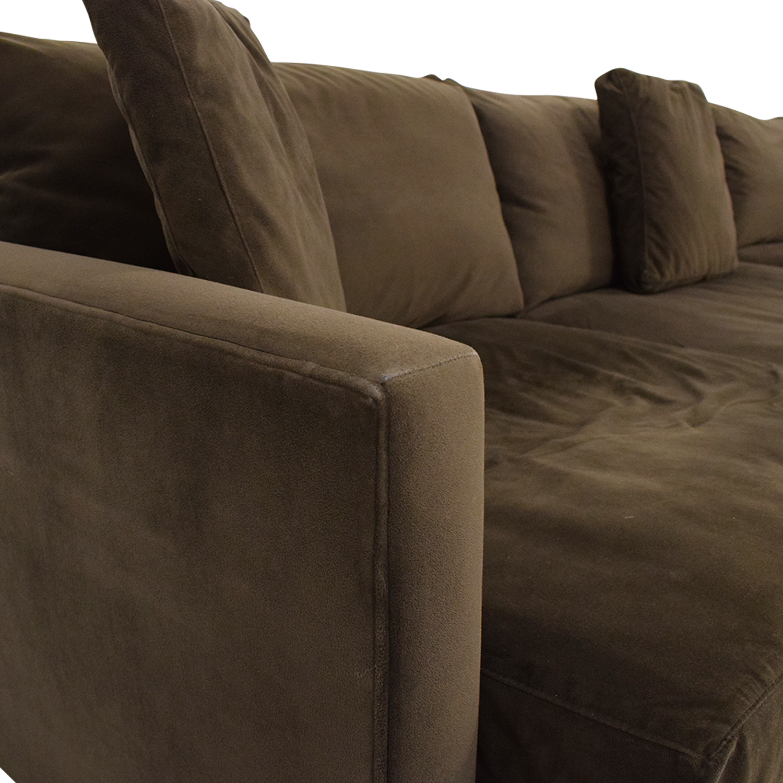 buy Crate & Barrel Lounge II Sectional Sofa Crate & Barrel Sofas