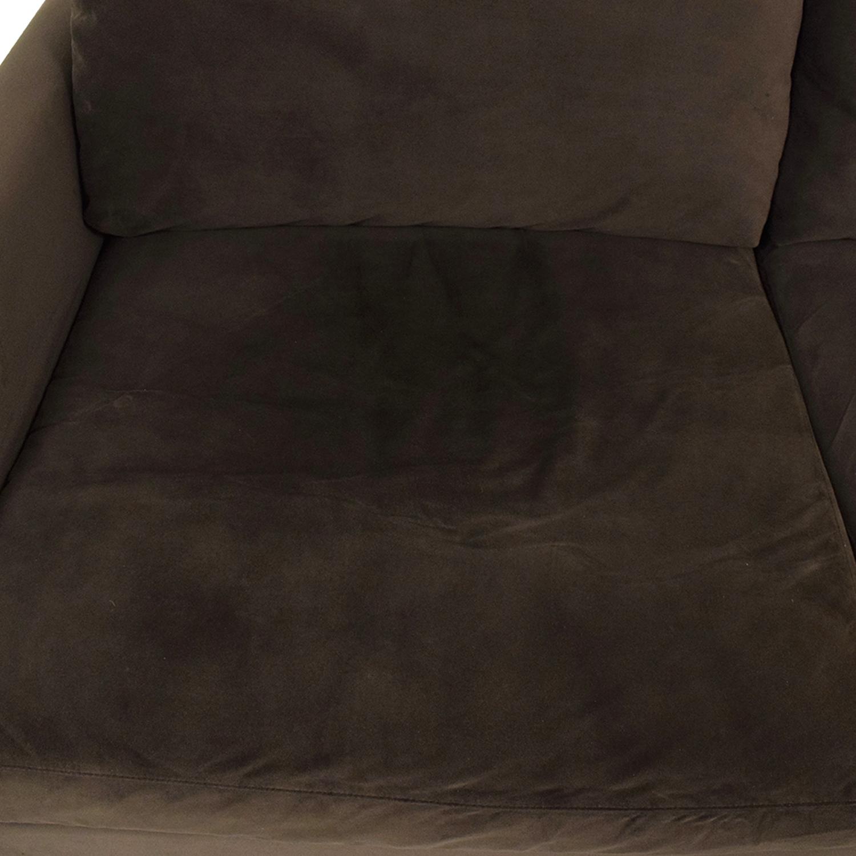 Crate & Barrel Crate & Barrel Lounge II Sectional Sofa dark brown