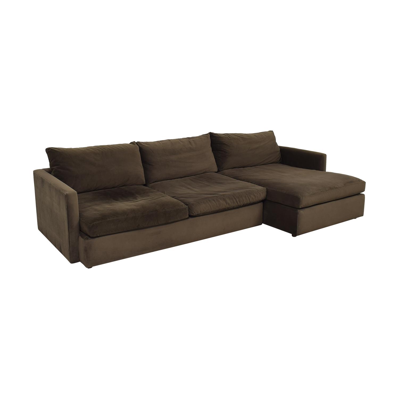 Crate & Barrel Lounge II Sectional Sofa Crate & Barrel