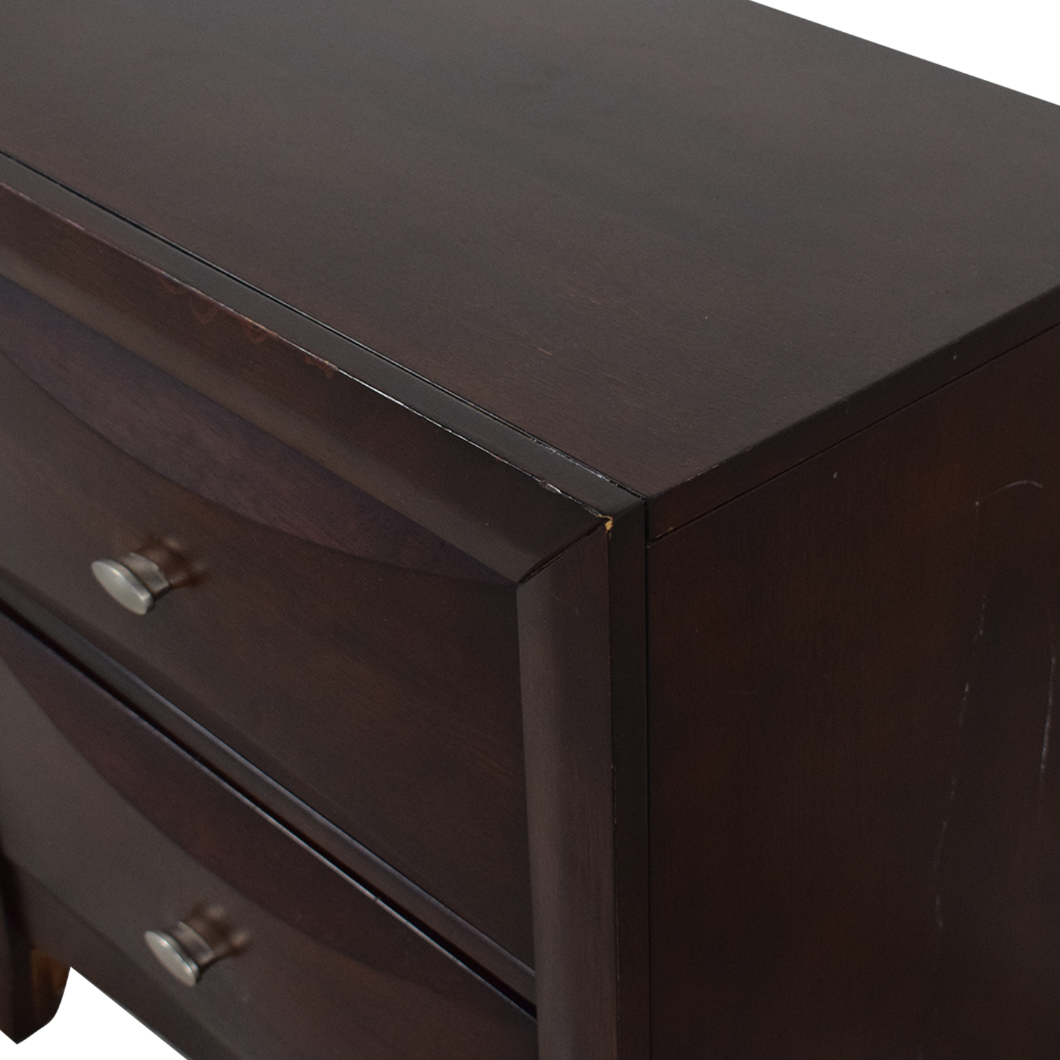 Raymour & Flanigan Double Drawer Night Stand sale